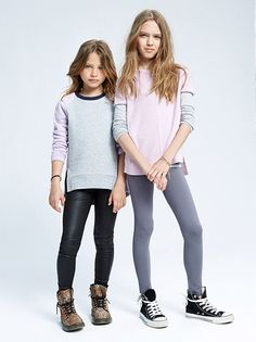 VINCE KIDS  Fall 2015 campaign photographer: Lee Clower models: Naya and Zuzanna