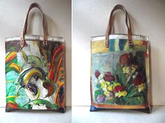 Swarm Home Bags made from damaged vintage oil paintings