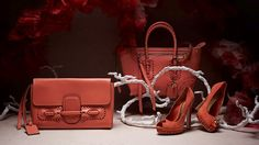 Alexander McQueen SS12 Folk bags and shoes in Coral! :)