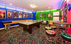 You can never be too old for a game room, right? I want this in my future home.