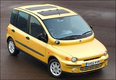 The world's most ugliest cars pictures in one place! These are so ugly it makes the ugliest person look good! Enjoy these ugly cars! The Fiat Multipla comes to mind as the ugliest car ever made! Weird Cars, Cool Cars, Fiat Models, Die 100, Automobile, Fiat Cars, Fiat Abarth, Yellow Car, Steyr