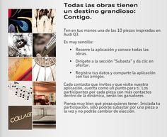 Audi de México te invita a participar en la subasta para llevarte una de las piezas representativas de Audi Q3. ¡Ingresa a la aplicación, revisa las bases y participa ya! Será como tener esta SUV en casa. https://www.facebook.com/AudideMexico/app_120782841400101?