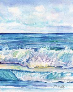Ocean Waves  Kauai Hawaii  8 x 10 Art Print  Beach by kauaiartist