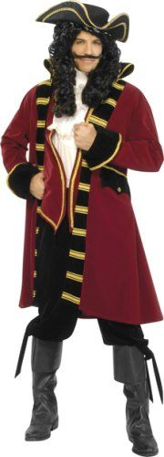 Unisex-Pirate-Stage-Show-Fancy Dress PIRATE SMEE COSTUME All Ages /& Sizes