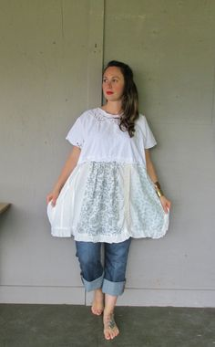 one size oversize upcycled tunic dress plus by lillienoradrygoods