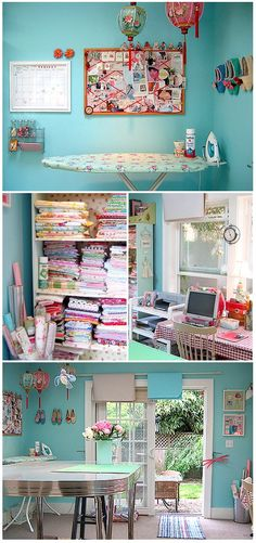 http://aliciapaulson.com/studio.html  Alicia Paulson of Posie's craft room