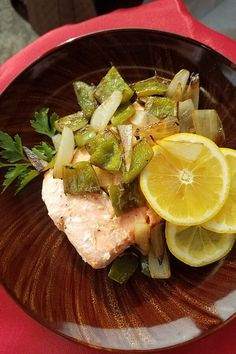 """Sheet Pan Salmon and Bell Pepper Dinner 