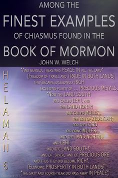 """Helaman 6:7–13 deserves to take its place among the finest examples of chiasmus found in the Book of Mormon."" –John W. Welch  The fact that its central message is most impactful in ancient Hebrew is yet another evidence of the Book of Mormon's authenticity and divine imprimatur. https://knowhy.bookofmormoncentral.org/content/why-was-chiasmus-used-in-nephite-record-keeping"