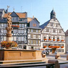 The marktplatz in Butzbach, Germany - I wouldn't go back, but this is where we lived.