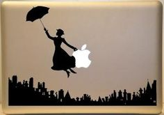 Mary Poppins Inspired Macbook Vinyl Decal