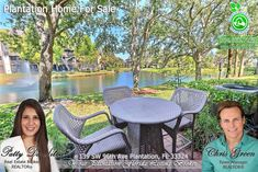 FOR SALE ~ Amazing waterfront townhome in the heart of Plantation features 2 beds, 2.5 baths. Covered and screened in patio + brick patio great to enjoy while relaxing to awesome lake view. Low HOA fees at $240 cover roof maintenance. For photos & info, visit www.goo.gl/9CZ1BJ