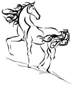 Horse Tattoo - but without the curly/fancy/almost tribal mane & tail *I like it with :)