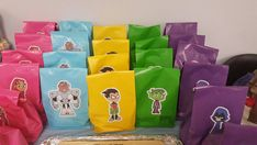 5 Teen titans go favor bags party decorations by diapercake4less