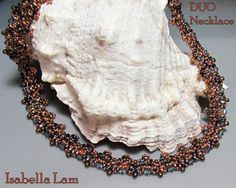 DUO Necklace Exclusively PDF Beading tutorial for personal use only