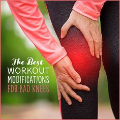 Suffering from knee pain? Here are the best workout modifications for bad knees, so you can work your legs without putting pressure on your knees.