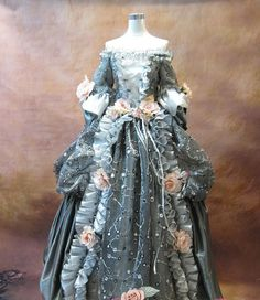 Marie Antoinette French 18th century Victoria dress (Made to order)