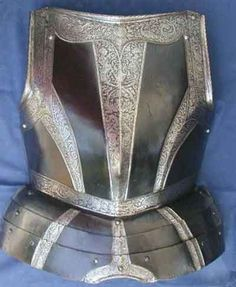 Exceptional Etched Black and White Cuirass