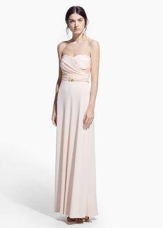 Online exclusive - vestido largo drapeado | MANGO