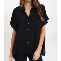 Black Button Down Tunic Black Button Down Tunic. Fits loosely. 100% rayon. Brand new. Never worn. No flaws. Available in S-M-L. Bundle for 10% off. No Paypal. No trades. No offers will be considered unless you use the make me an offer feature.     Please follow  Instagram: BossyJoc3y  Blog: www.bossyjocey.com Tops Tunics
