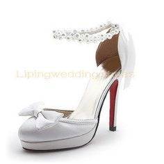 princess wedding shoes white satin wedding shoes with peals and bows