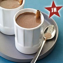 Mexican Hot Chocolate.  I've tried lots of recipes and this one is my favorite.  Can be made full fat or low fat.  The difference is in the almond extract.  It makes the final product so good!