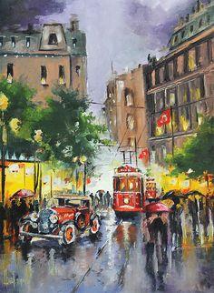 Puzzle Anatolian 1000 piezas.  Ref 3189.  Calle Istiklal Estambul.  66 x 48 cm
