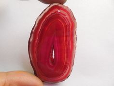 Natural Druzy Geode Agate Slice Freefrom Pendant Bead Red 61x35x5mm #Unbranded