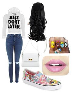 """Untitled #178"" by amna-hakeem on Polyvore featuring WearAll, Chanel, Vans and Fiebiger"