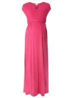 Womens **Maternity Pink Jersey Maxi Dress- Pink