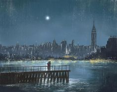 gyclli:  Blue Moon   Jeff Rowland ( English painter )