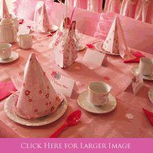 The Ultimate Princess Tea Party with Princess Centerpieces, Porcelain Tea Cup Painting, Princess Dress Up, Princess Photo Banner...Very happy little princesses!