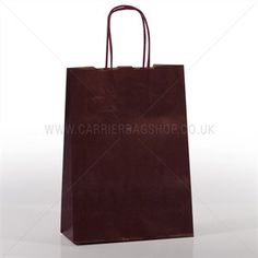 Italian Burnt Red Paper Carrier Bags with Twisted Handles
