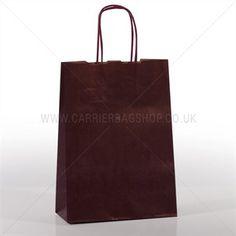 Premium Papiertragetaschen mit Kordelgriffen dunkelrot