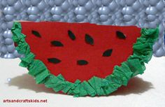 Easy watermelon crafts | Watermelon | Easy crafts ideas for kids – Craft projects