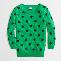 J.Crew Factory - Factory intarsia Charley sweater in polka dot