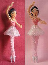 3D Ballerina Doll Beading Pattern by Ruth Kiel at Bead-Patterns.com