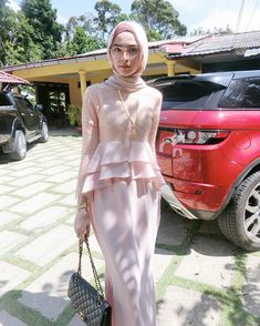 Kebaya Muslim, Muslim Dress, Simple Dresses, Casual Dresses, Fashion Dresses, Islamic Fashion, Muslim Fashion, Mode Batik, Kebaya Modern Dress