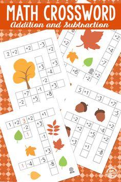 Fall Math Crossword Puzzles