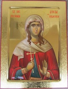 Religious Icons, Religious Art, Santa Lucia, Byzantine Icons, Orthodox Icons, Saints, Religion, Princess Zelda, Facebook