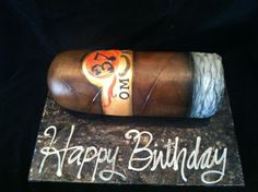 Cigar Cake  - Cake by The Cake Diosa