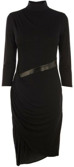 KAREN MILLEN ENGLAND Modern Jersey Dress - We should make something like this for you. Very cool! Can add long sweater or trench type coat