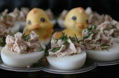 Sunflower - w wolnej chwili...: Jajka faszerowane tuńczykiem