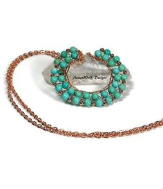 Turquoise Magnesite Necklace / Copper by AussenWolfDesigns on Etsy