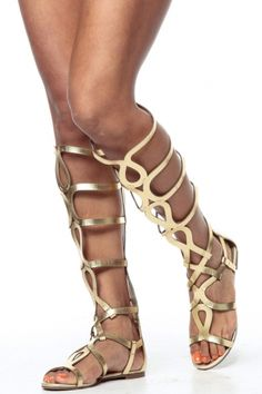 Gold Egyptian Gladiator Sandals