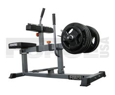 Seated Calf-raise machine.  This is part of my current home gym, and perfect for calf-blasting.