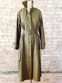 YSL1970's Saint Laurent Rive Gauche safari collection military khaki trench dress ICONIC!