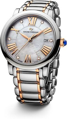 SKU A03720: David Yurman Classic 18K gold & Stainless Steel 34MM
