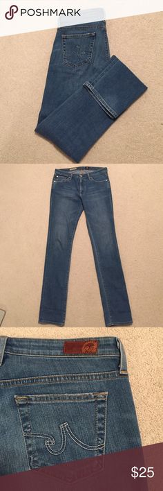 "AG ""The Premiere"" Skinny Straight Jeans AG Adriano Goldschmied light wash straight leg jeans. Size 29R. AG Adriano Goldschmied Jeans Straight Leg"