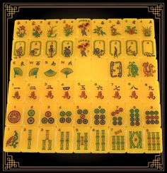 Red Coin Mah Jong Ninth Edition Dragon Set