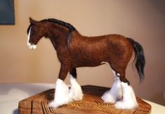 This Big (22cm tall) Clydesdale Horse is finished, and waiting for the amazing draft tack my friend Mojcais now working on. For sure it will be as amazing and detailed as her work always is. Meanw…